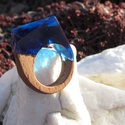 Night shadow - gyanta fa gyűrű - 18 mm , Ékszer, Gyűrű, Egy szögletes, markáns, egyedi gyanta gyűrű. Különleges és szemet gyönyörködtető kidolgoz..., Meska