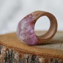 Rózsás gyanta gyűrű 18 mm , Ékszer, Gyűrű, Ékszerkészítés, Famegmunkálás, Csillámos rózsaszín gyanta gyűrű, lekerekített fejjel a kényelmes hétköznapi viselethez.  Belső átm..., Meska