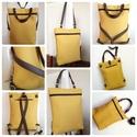 Textilbőr táska, Baba-mama-gyerek, Ruha, divat, cipő, Táska, Hátizsák, Új termék!!!  4 féle módon hordható táska. Nincs olyan alkalom,hogy nem tudod használni! :) Váll-, o..., Meska