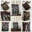 Textilbőr táska, Baba-mama-gyerek, Táska, Ruha, divat, cipő, Hátizsák, Új termék!!!  4 féle módon hordható táska. Nincs olyan alkalom,hogy nem tudod használni! :) Váll-, o..., Meska