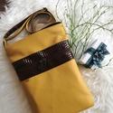 Textilbőr táska, Baba-mama-gyerek, Táska, Válltáska, oldaltáska, Közepes méretű oldaltáska, praktikus és nőies.   Kérlek csak akkor vásárold meg a terméket,ha változ..., Meska