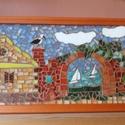 Üvegmozaik kép, Otthon, lakberendezés, Dekoráció, Kép, Falikép, Többféle színű Sprektum üveg felhasználásával készített  mozaik kép.. A  mozaikok közöt..., Meska