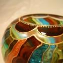 Kétfunkciós mécses, Különleges, kézzel festett üvegmécses, amit k...