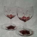 Páros boros romantikus estékre :) - 2db pohár, Kis méretű boros pohárkák, csak pároknak! Rom...