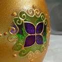 Mandala mécses, Hordó alakú, közepes méretű mécsest festette...