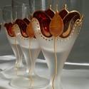 Pálinkás/Szeszes pohárkészlet , Egyszerű kis szeszes pohárkészletet festettem, ...
