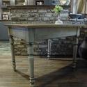 Vintage fa asztal 100x80 cm, Bútor, Asztal, Famegmunkálás, Festett tárgyak, Vintage fa asztal 100x80 cm, Meska