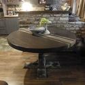 Fa Körasztal d/130cm Vintage, Bútor, Asztal, Famegmunkálás, Festett tárgyak, Fa Körasztal d/130cm, Meska