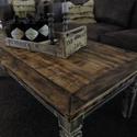 Industrial fa asztal , Bútor, Asztal, Famegmunkálás, Festett tárgyak, Industrial fa asztal , Meska
