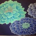 Dekorációs festmény, Dekoráció, Képzőművészet, Festmény, Olajfestmény, Festészet, Egyedien lakásbelsőhöz tervezett szín és formavilág,ami fantasztikus színfoltja a szobának. Keret n..., Meska