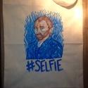 Van Gogh selfis tatyó, Képzőművészet, Táska, Textil, Szatyor, Vicces ötleteket kedvelőknek és főleg Van Gogh rajongóknak ajánlom :-)  Lenvászon tatyóra fe..., Meska