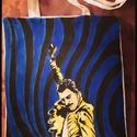 Freddie Mercury tatyó, Képzőművészet, Ruha, divat, cipő, Táska, Textil, Neked ki a kedvenc előadód,akit magaddal vinnél mindenhová a válladon?Egyedi kívánságokat is megfest..., Meska