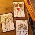 """Egyedi hűtőmágnesek angyalokkal, Dekoráció, Képzőművészet, Szépségápolás, Grafika, Festett tárgyak, Fotó, grafika, rajz, illusztráció, Remek ajándék hölgyeknek,de kérésre készítek """"fériasabbat"""" is :-) Fontos: egyenként kézzel készítet..., Meska"""