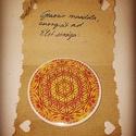 """Mandalás zsebtükör, Mindenmás, Ruha, divat, cipő, """"Élet virága """" mandalás,5,5 cm átm. zsebtükör a spiritualitást kedvelőknek., Meska"""