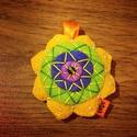 Mandalás kulcstartó/táskadísz, Mindenmás, Kulcstartó, Spirituális töltetű lüktető színű Mandala kulcstartók,amelyek táskadíszként is tökéletesek.Filcből v..., Meska