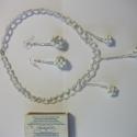 gyöngy szett, Ékszer, Fülbevaló, Ékszerszett, Nyaklánc, gyöngyből készült fülbevaló és nyaklánc. hossza 42 cm golyó nagysága: 1,2 cm fülbevaló n..., Meska