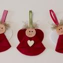Angyalka szett Karácsony dísz 3 db, 3 db-os angyalka szett, karácsonyi dísz fára, v...