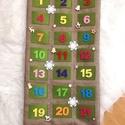 Adventi naptár,egyedi 70x30 cm, Filc+textil felhasználásával készült egyedi a...