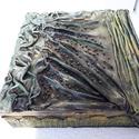 Kincses doboz, Férfiaknak, Képzőművészet, Otthon, lakberendezés, Vegyes technika, Újrahasznosított alapanyagból készült termékek, Mindenmás, Textilszobrász technikával díszített fa doboz. Textilszobrász technikával készült használati és dís..., Meska