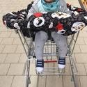Bevásárló-kocsi huzat babáknak, Baba-mama-gyerek, Baba-mama kellék, Varrás, 100% pamutból készült ki-be fordítható, két színnel készült bevásárló kocsira való huzat, gumis. A ..., Meska