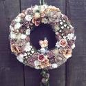 Esküvői ajtódísz, Dekoráció, Esküvő, Dísz, Esküvői dekoráció, Mindenmás, Virágkötés, Amire ennél a dísznél törekedtem: egyediség, különlegesség, báj, elegancia.  Méret: 25 cm, Meska