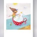 Kakaókatona - illusztráció (print), Képzőművészet, Otthon, lakberendezés, Illusztráció, Grafika, Fotó, grafika, rajz, illusztráció, Az eredeti illusztrációról (Both Gabi : Kakaókatona és Tejhercegnő c. könyv ) készített kiváló minő..., Meska
