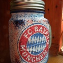 Bayern München foci emblémás sörös korsó vagy szívószálas üveg kettő az egyben, Konyhafelszerelés, Férfiaknak, Bögre, csésze, Focirajongóknak, Decoupage, transzfer és szalvétatechnika, Bayern München foci emblémás sörös korsó vagy szívószálas üveg kettő az egyben  Foci rajongó a csal..., Meska