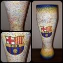 Barcelona foci rajongói sörös pohár 500 ml , Konyhafelszerelés, Férfiaknak, Focirajongóknak, Sör, bor, pálinka, Decoupage, transzfer és szalvétatechnika, Barcelona foci rajongói sörös pohár 500 ml   Sör kedvelőknek kötelező kellék! Kiváló ajándék mikulá..., Meska