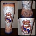 Real Madrid foci rajongói sörös pohár 500 ml , Konyhafelszerelés, Férfiaknak, Focirajongóknak, Sör, bor, pálinka, Decoupage, transzfer és szalvétatechnika, Real Madrid foci rajongói sörös pohár 500 ml   Sör kedvelőknek kötelező kellék! Kiváló ajándék miku..., Meska