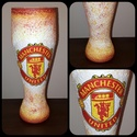 Manchester United foci rajongói sörös pohár 500 ml , Konyhafelszerelés, Férfiaknak, Focirajongóknak, Sör, bor, pálinka, Decoupage, transzfer és szalvétatechnika, Manchester United foci rajongói sörös pohár 500 ml   Sör kedvelőknek kötelező kellék! Kiváló ajándé..., Meska