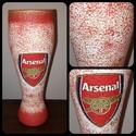 Arsenal foci rajongói sörös pohár 500 ml , Konyhafelszerelés, Férfiaknak, Focirajongóknak, Sör, bor, pálinka, Decoupage, transzfer és szalvétatechnika, Arsenal foci rajongói sörös pohár 500 ml   Sör kedvelőknek kötelező kellék! Kiváló ajándék mikulásr..., Meska
