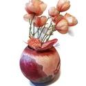 Pünkösdi rózsás gömbváza virág váza tavaszi dekoráció asztaldísz ajándékötlet anyák napjára, pedagógus napra , Otthon, lakberendezés, Kaspó, virágtartó, váza, korsó, cserép, Pünkösdi rózsás gömb virág váza tavaszi dekoráció asztaldísz ajándékötlet anyák napjá..., Meska