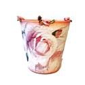 Rózsaszín rózsa kaspó, virágtartó bármilyen alkalomra virág mellé., Otthon, lakberendezés, Dekoráció, Kaspó, virágtartó, váza, korsó, cserép, Dísz, Rózsaszín rózsa kaspó, virágtartó bármilyen alkalomra virág mellé.   Készülhet, bármilye..., Meska