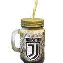 Juventus foci rajongói sörös korsó vagy szívószálas üveg kettő az egyben, Férfiaknak, Focirajongóknak, Sör, bor, pálinka, Decoupage, transzfer és szalvétatechnika, Juventus foci rajongói sörös korsó vagy szívószálas üveg kettő az egyben  Foci rajongó a család apr..., Meska