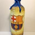 Fc Barcelona foci rajongói ajándék - italos dísz- és használati üveg. , Férfiaknak, Sör, bor, pálinka, Legénylakás, Focirajongóknak, Decoupage, transzfer és szalvétatechnika, Fc Barcelona foci rajongói ajándék - italos dísz- és használati üveg.   Űrtartalma: 1000 ml  Foci r..., Meska