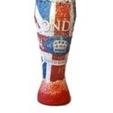 Brit zászló mintás London dísz-és használati sörös pohár Angliába utazó v. Angliából hazaérkezőknek, angol tanároknak. , Konyhafelszerelés, Férfiaknak, Sör, bor, pálinka, Brit zászló mintás London dísz-és használati sörös pohár Angliába utazó v. Angliából ha..., Meska