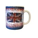Brit zászló mintás London dísz-és használati bögre Angliába utazó v. Angliából hazaérkezőknek, angol tanároknak. , Konyhafelszerelés, Férfiaknak, Bögre, csésze, Brit zászló mintás London dísz-és használati kerámia bögre Angliába utazó v. Angliából h..., Meska