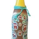 Bagoly  gyermek alkoholmentes pezsgő ajándék gyermeknapra, szülinapra, névnapra, ballagásra, szilveszterre, Baba-mama-gyerek, Mindenmás, Bagoly gyermek alkoholmentes pezsgő ajándék gyermeknapra, szülinapra, ballagásra. Egyedileg felirato..., Meska