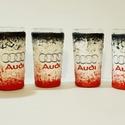 Audi röviditalos pohárszett rajongói ajándékl, Konyhafelszerelés, Férfiaknak, Sör, bor, pálinka, Legénylakás, Decoupage, transzfer és szalvétatechnika, Audi röviditalos pohárszet rajongói ajándék.  A poharak űrtartalma: 30-50 ml  Audi rajongó család k..., Meska