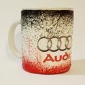 Audi füles kerámia pohár, bögre audi rajongói ajándék , Konyhafelszerelés, Férfiaknak, Bögre, csésze, Legénylakás, Decoupage, transzfer és szalvétatechnika, Audi füles kerámia pohár, bögre audi rajongói ajándék férfiaknak, férjeknek, barátoknak, gyermekekn..., Meska