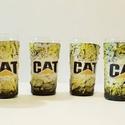 Cat, caterpillar röviditalos pohárszett szülinapra, névnapra, házavatóra, karácsonyra.  , Otthon, lakberendezés, Férfiaknak, Sör, bor, pálinka, Legénylakás, CAT, Caterpillar italos dísz- és használati röviditalos pohárszett szülinapra, névnapra, házavatóra,..., Meska