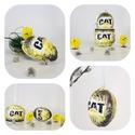 CAT, Caterpillar meglepetés tojás, húsvéti tojás, kermáia tojástartó, gyertyatartó 3 az 1-ben nem csak húsvétra ..., Konyhafelszerelés, Otthon, lakberendezés, Dekoráció, Gyertya, mécses, gyertyatartó, Decoupage, transzfer és szalvétatechnika, CAT, Caterpillar meglepetés tojás, húsvéti tojás, kermáia tojástartó, gyertyatartó 3 az 1-ben nem c..., Meska