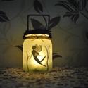 Éjjeli lámpás-tündér, Otthon, lakberendezés, Lámpa, Hangulatlámpa, Decoupage, transzfer és szalvétatechnika, Mindenmás, Ezek a hangulatos lámpások fényükkel apró kis misztikumot csempésznek este a szobánkba. Az üveg ala..., Meska
