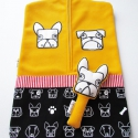 Bulldog! sárga óvodai zsák kutyás mintával(angol ill.francia bulldog),   Saját tervezésű mintából készült az alapa...