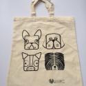 Bevásárló szatyor, kutyás, puli1, Legújabb, dog-pictograms elnevezésű mintacsalá...