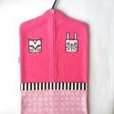 pink óvodai zsák állatos mintával , Saját tervezésű mintából készült az alapany...