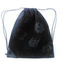 Hátizsák fekete matyó virágokkal, Erős munkaruha vászonból készült ez a hátizs...