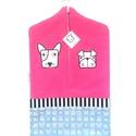 pink óvodai zsák állatos mintával, Saját tervezésű mintából készült az alapany...