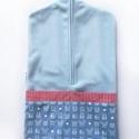 világoskék óvodai zsák , Saját tervezésű mintából készült az alapany...