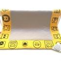 Classic játszószőnyeg /sárga-szürke, Baba-mama-gyerek, Otthon, lakberendezés, Gyerekszoba, Falvédő, takaró, Multifunkcionális játszószönyeg, mely egyszerre fejleszti a kicsik látását, hallását, tapintását, ug..., Meska